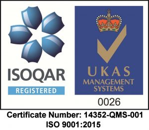 ISOQAR Logo with Cert number