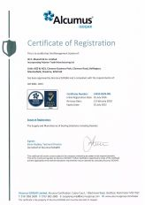ISOQAR ISO9001:2015 Certificate